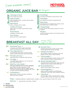 Cover image of the Cafe Menu PDF