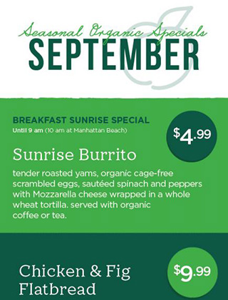 Cover image of the September Organic Specials PDF