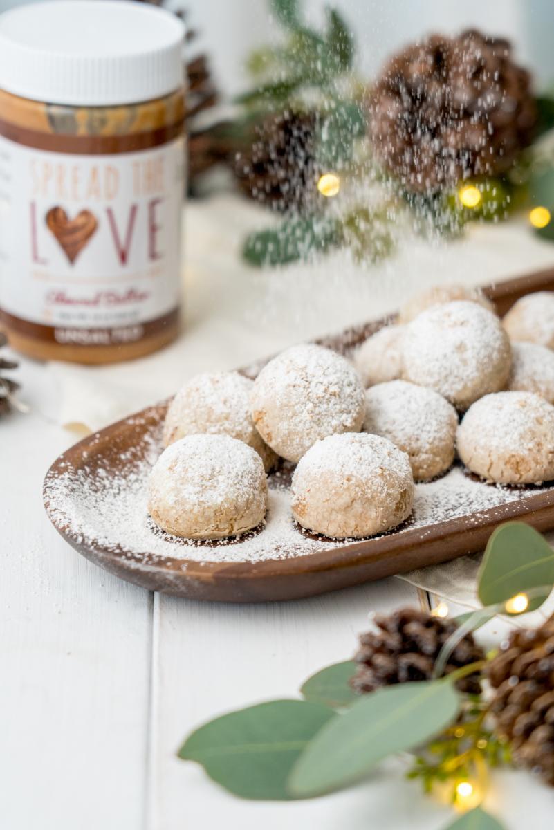 Spiced Almond Butter Snowball Cookies Mother S Market